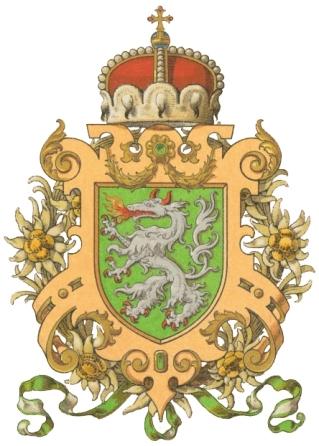 Grb Štajerske iz leta 1900; Hugo Gerard Ströhl, Oesterreichisch-Ungarische Wappenrolle, Dunaj 1900.